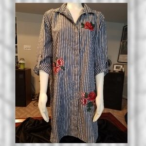 Forever 21+ Plus Size 2X Button Up Collar Dress